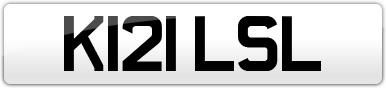 Plate image for registration plate K121LSL