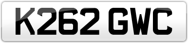 Plate image for registration plate K262GWC