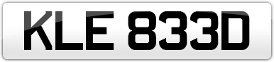Plate image for registration plate KLE833D