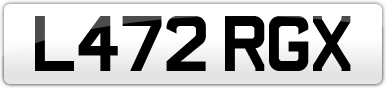 Plate image for registration plate L472RGX