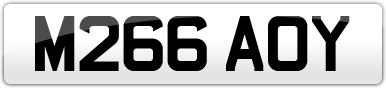Plate image for registration plate M266AOY