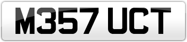 Plate image for registration plate M357UCT