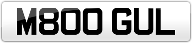 Plate image for registration plate M800GUL
