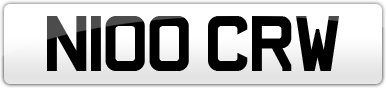 Plate image for registration plate N100CRW