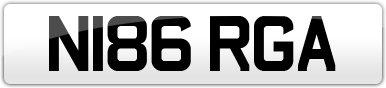 Plate image for registration plate N186RGA