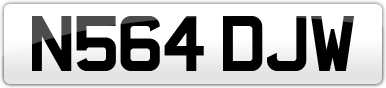 Plate image for registration plate N564DJW