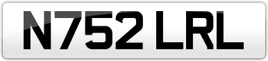 Plate image for registration plate N752LRL