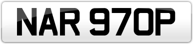 Plate image for registration plate NAR970P