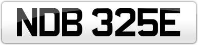 Plate image for registration plate NDB325E