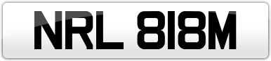 Plate image for registration plate NRL818M
