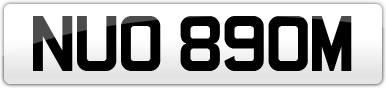 Plate image for registration plate NUO890M