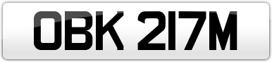 Plate image for registration plate OBK217M