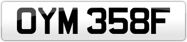Plate image for registration plate OYM358F
