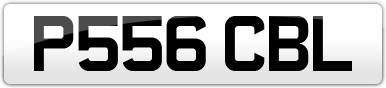 Plate image for registration plate P556CBL
