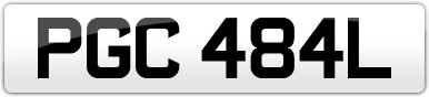 Plate image for registration plate PGC484L