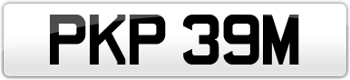 Plate image for registration plate PKP39M
