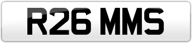 Plate image for registration plate R26MMS