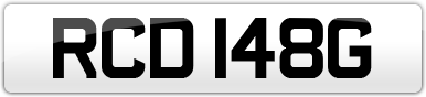 Plate image for registration plate RCD148G