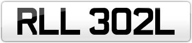 Plate image for registration plate RLL302L