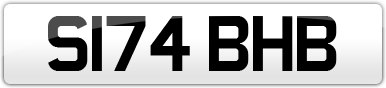 Plate image for registration plate S174BHB