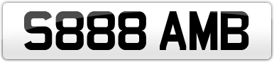 Plate image for registration plate S888AMB