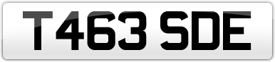Plate image for registration plate T463SDE