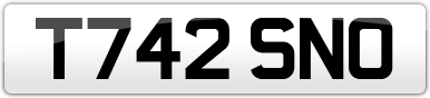 Plate image for registration plate T742SNO