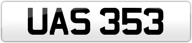Plate image for registration plate UAS353