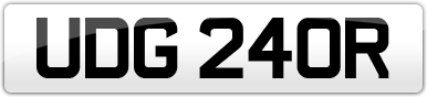 Plate image for registration plate UDG240R