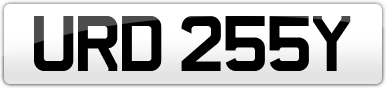 Plate image for registration plate URD255Y
