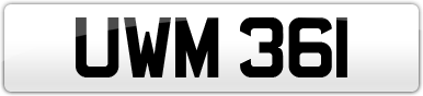 Plate image for registration plate UWM361