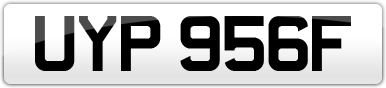 Plate image for registration plate UYP956F