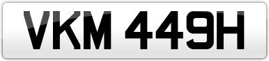 Plate image for registration plate VKM449H