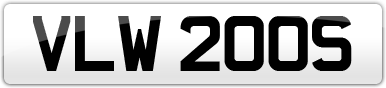 Plate image for registration plate VLW200S
