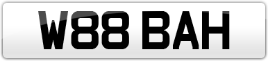 Plate image for registration plate W88BAH