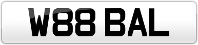 Plate image for registration plate W88BAL