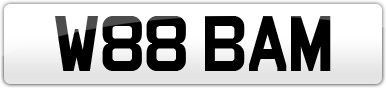 Plate image for registration plate W88BAM