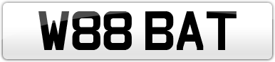 Plate image for registration plate W88BAT