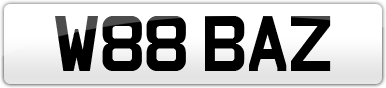 Plate image for registration plate W88BAZ