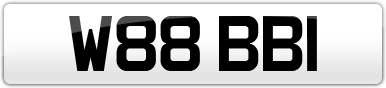 Plate image for registration plate W88BBI