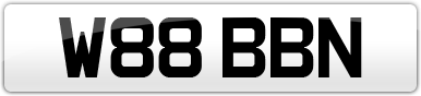 Plate image for registration plate W88BBN