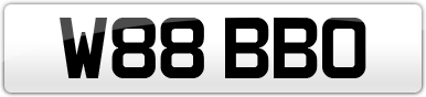 Plate image for registration plate W88BBO