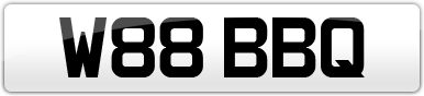 Plate image for registration plate W88BBQ