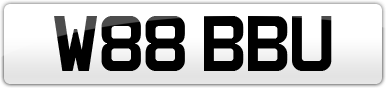 Plate image for registration plate W88BBU