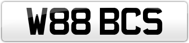 Plate image for registration plate W88BCS