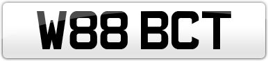Plate image for registration plate W88BCT