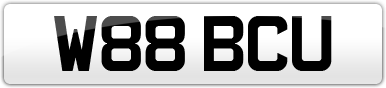 Plate image for registration plate W88BCU