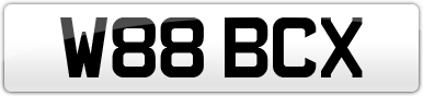 Plate image for registration plate W88BCX