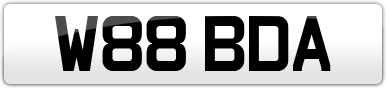 Plate image for registration plate W88BDA