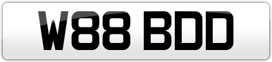 Plate image for registration plate W88BDD